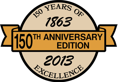 150 Years of Excellence 1863-2013 150th Anniversary Edition Logo