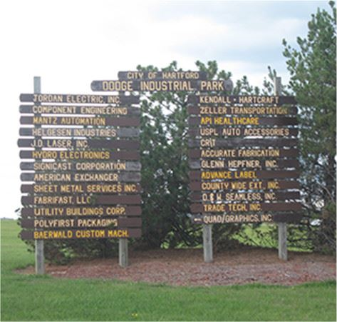 Dodge Industrial Park Sign