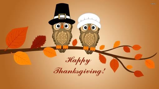 Happy Thanksgiving Owls